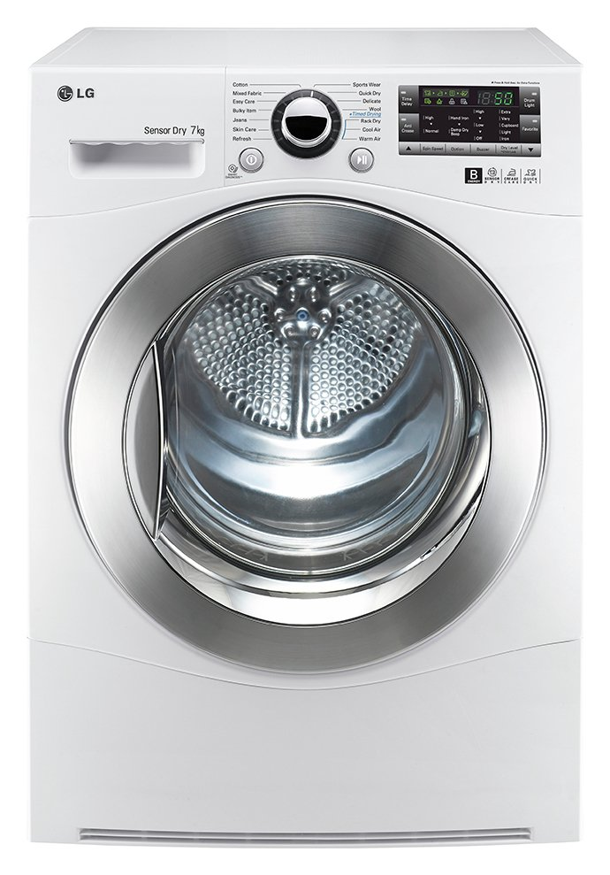Image of LG - RC7066A2Z 7KG Condenser - Tumble Dryer - White