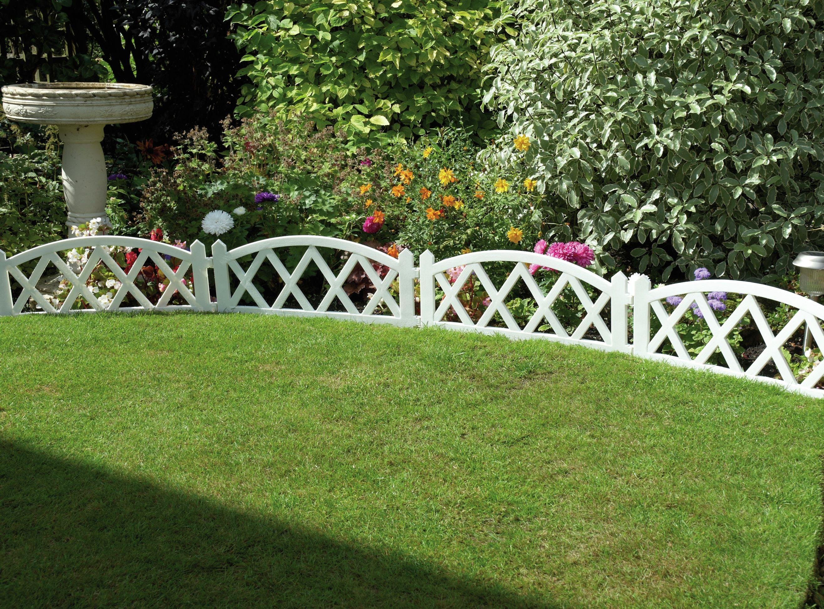 White Fence Panels - Pack of 4. lowest price