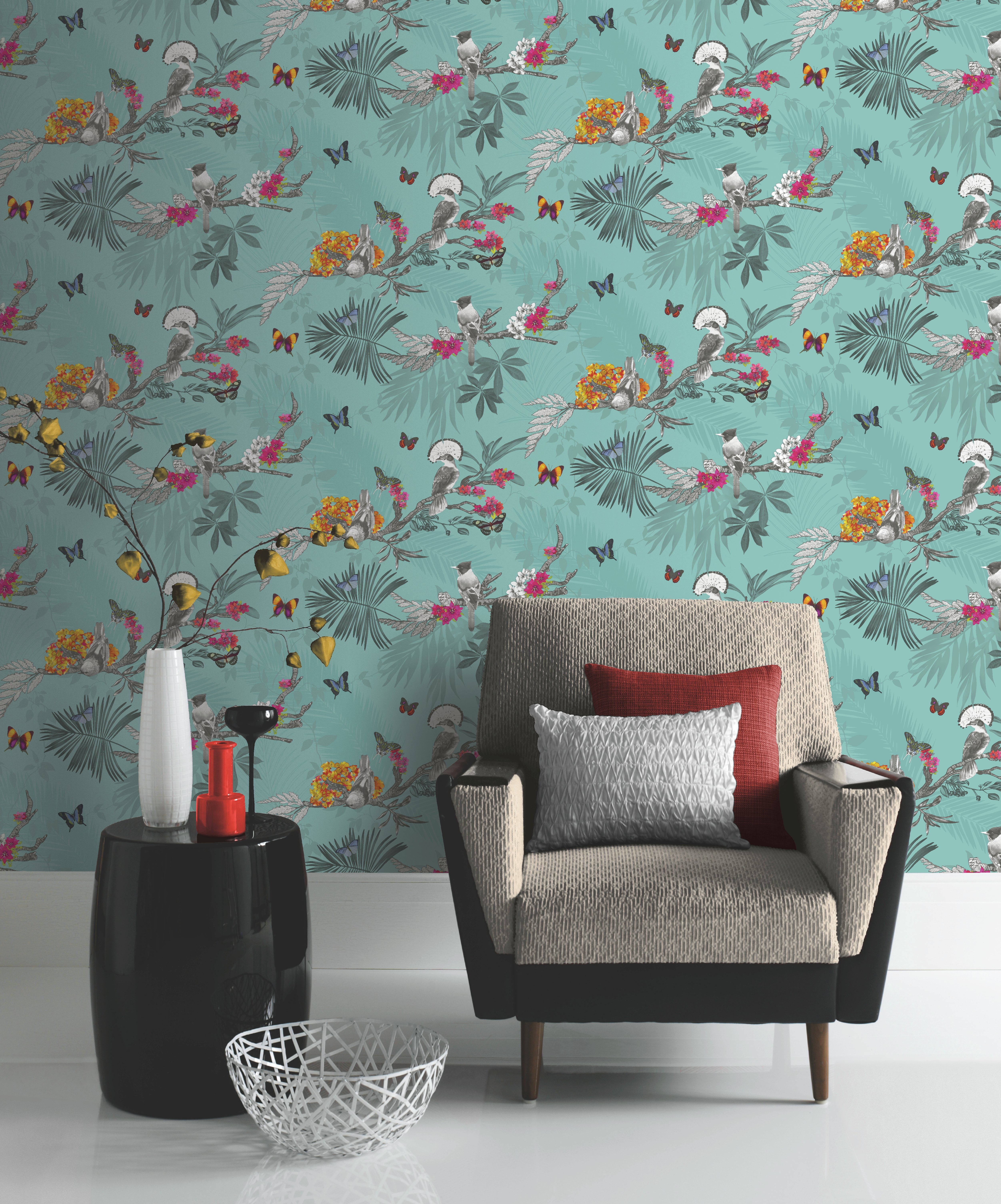 buy arthouse mystical forest teal wallpaper at argoscouk