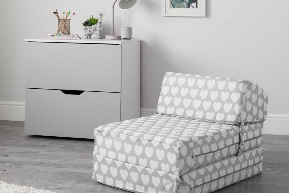 Argos Home Silver Stars Chair Bed.