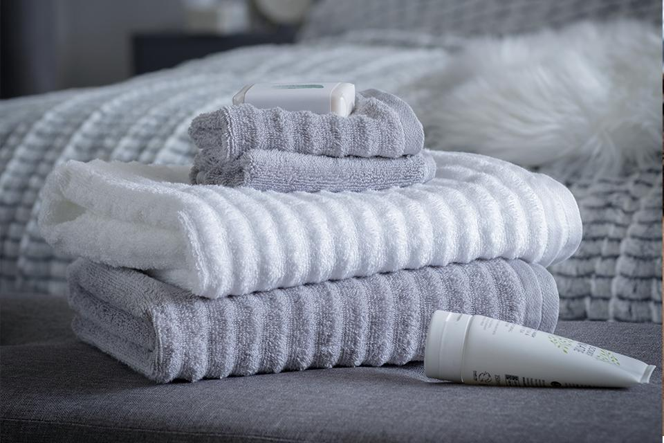 Argos Home Ribbed 6 Piece Towel Bale - Dove Grey.