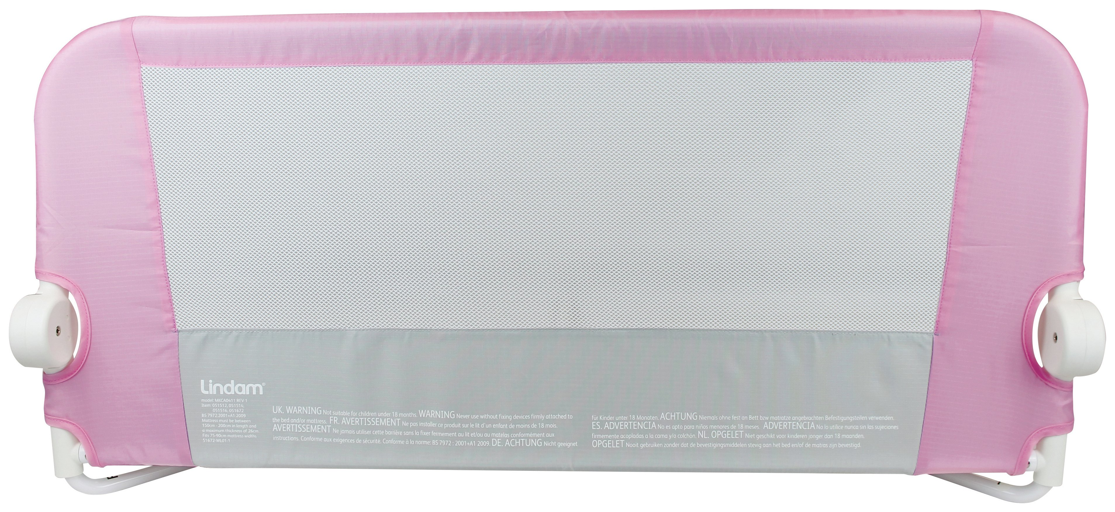 Image of Lindam Easy Fit Bed Guard - Pink.