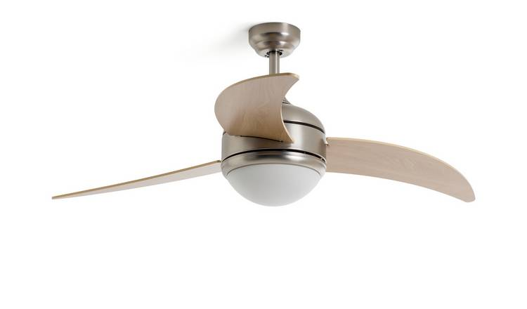 Argos Home Anders Wooden 3 Arm Remote Control Ceiling Fan