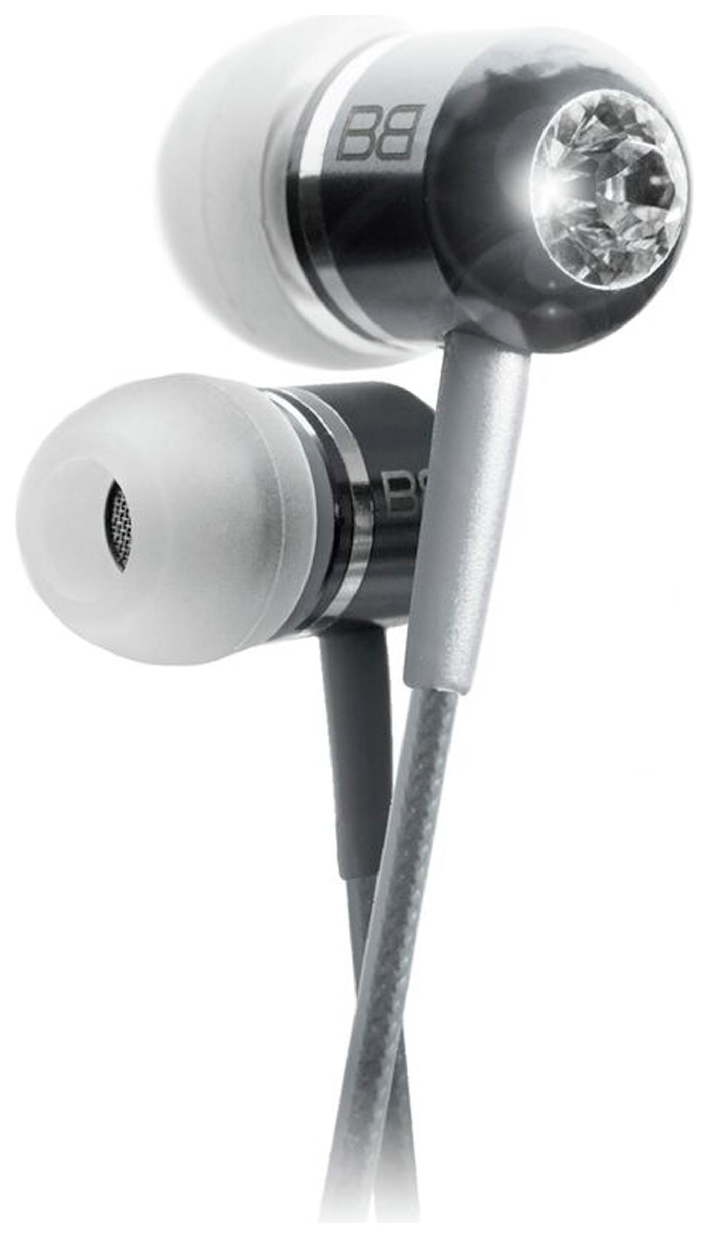 Image of BassBuds In Ear Headphones with MP3 Controller - Silver