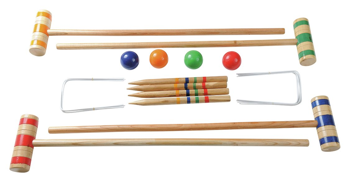 Image of Traditional Garden Games Family Croquet Set