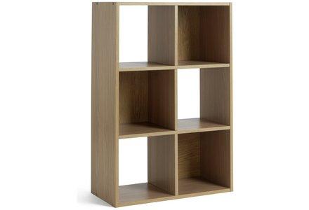 HOME Squares 6 Cube Storage Unit - Oak Effect