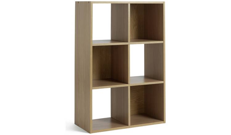 Argos Home Squares 6 Cube Storage Unit - Oak Effect