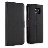 Samsung - Galaxy S6 Leather - Style Folio Case - Black