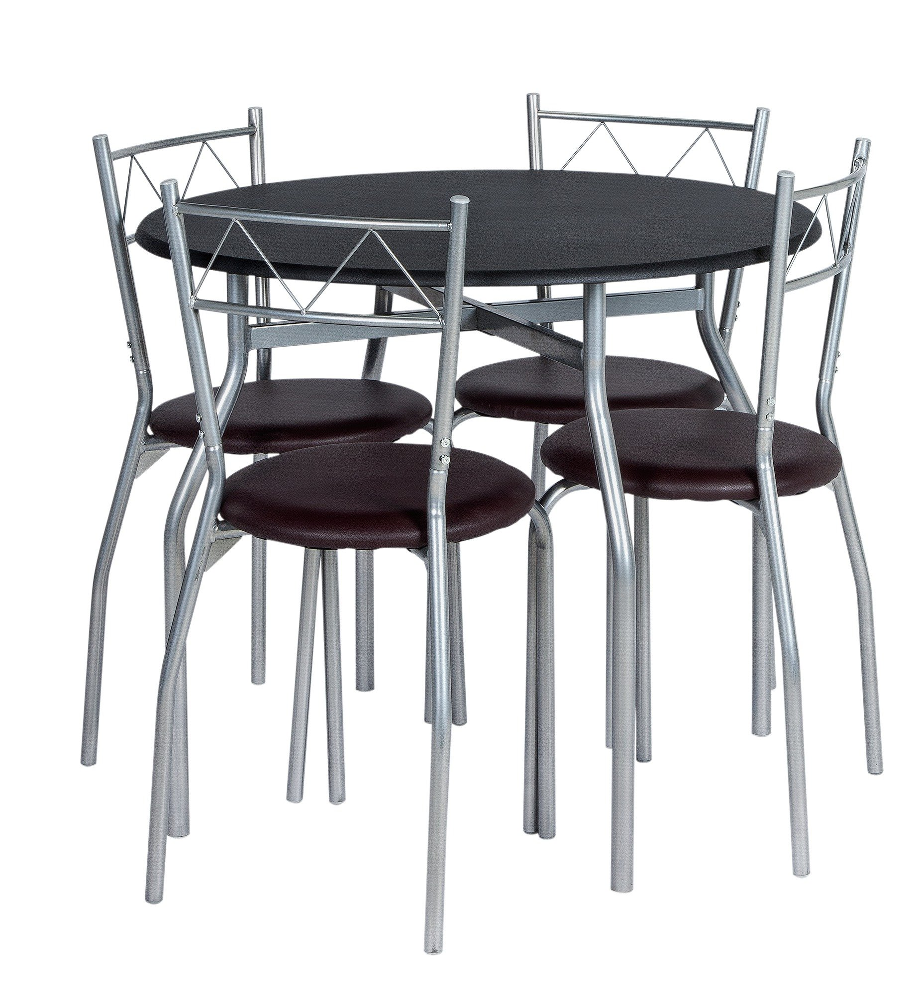 Buy HOME Oslo Round Dining Table 4 Chairs Black at Argoscouk