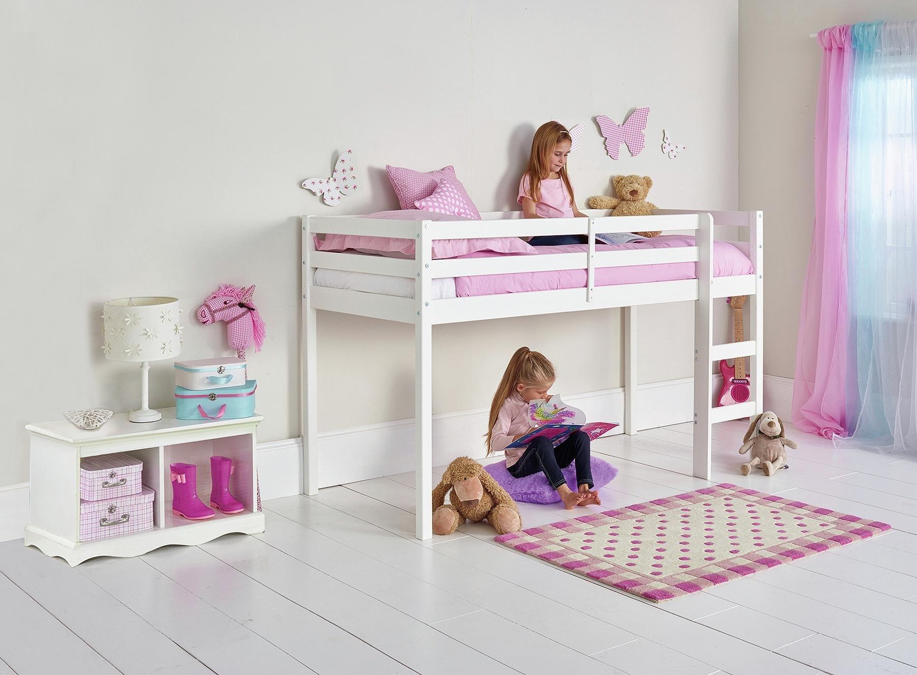 Buy Argos Home Kaycie Wood Mid Sleeper Shorty Bed Frame White