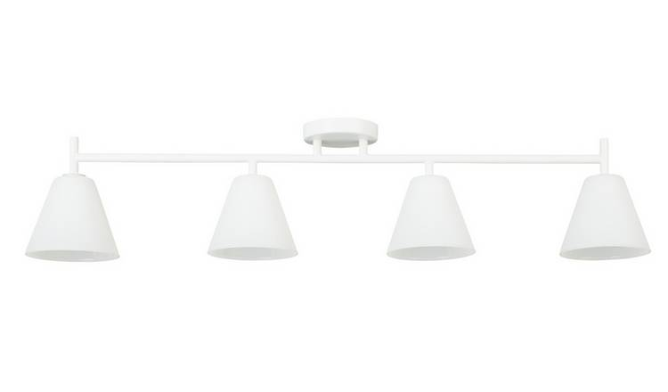 Habitat Hallam Small Flush to Ceiling Light - White