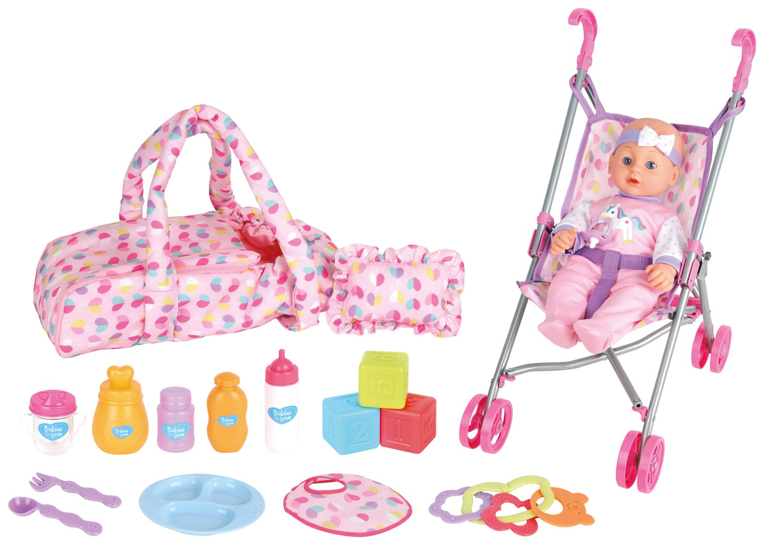 Chad Valley Babies to Love Baby Carrier & Stroller Stunt