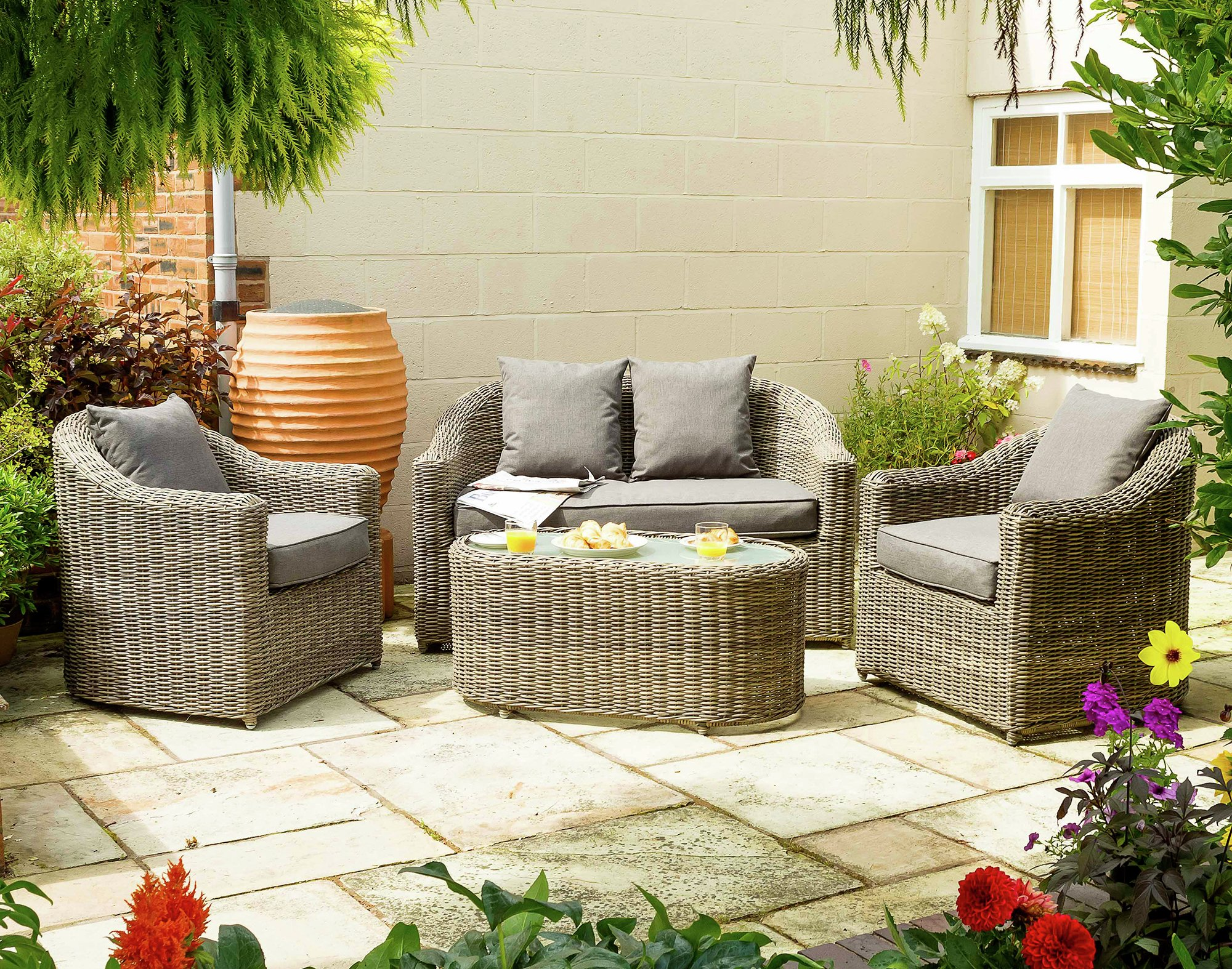 Bunbury rattan garden sofa set £829 99 gay times