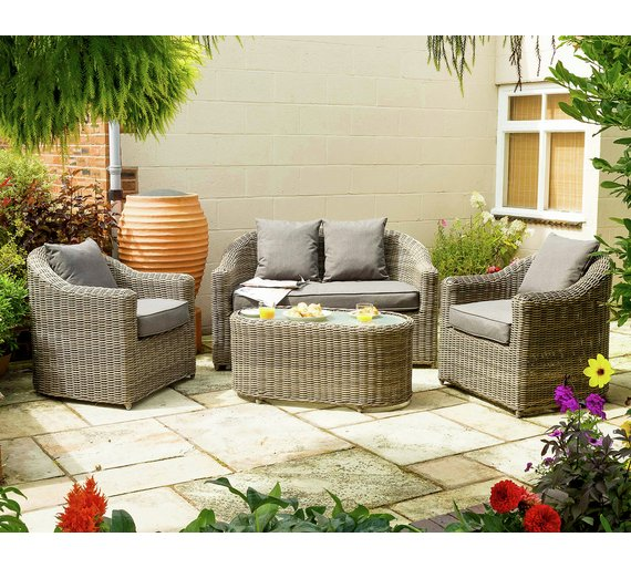 Buy Bunbury Rattan Garden Sofa Set At Argos Co Uk Your