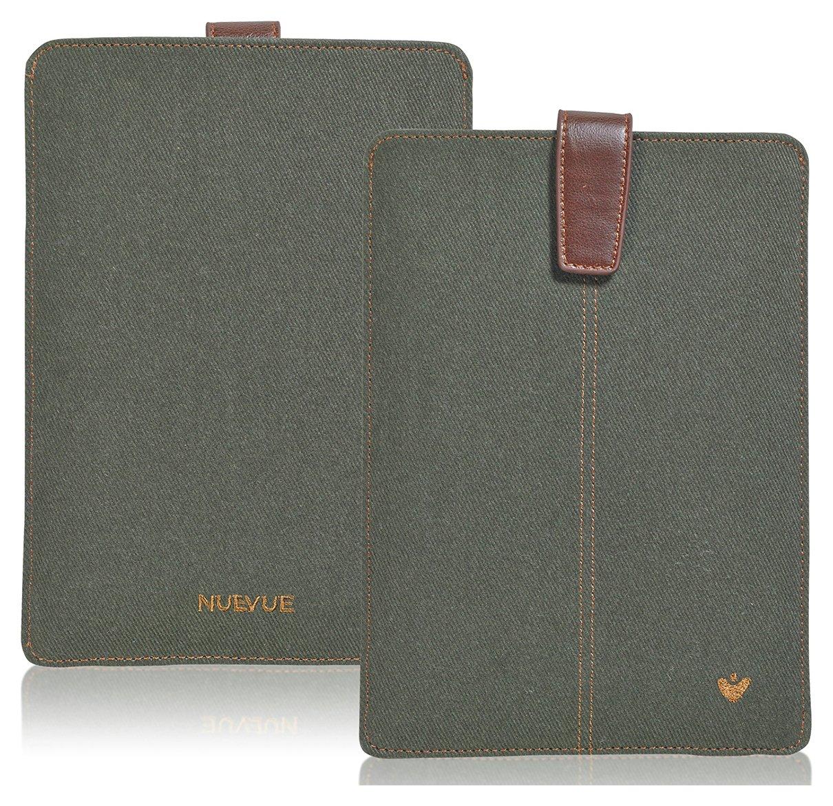 NueVue NueVue Cotton Twill Apple - iPad Case - Green/Orange