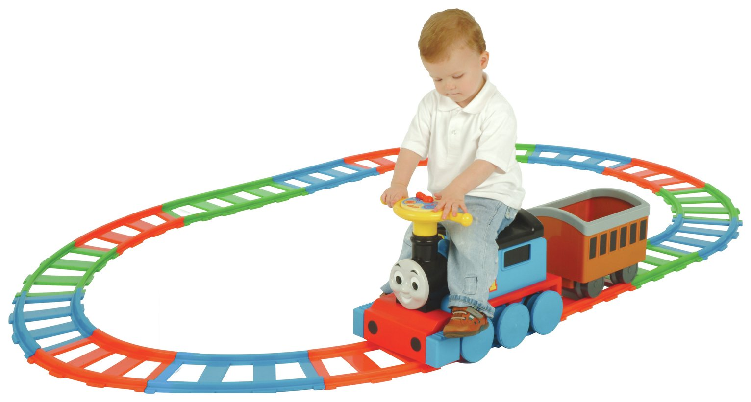 Image of Thomas and Friends - Ride On Train and 22 Piece Track Set