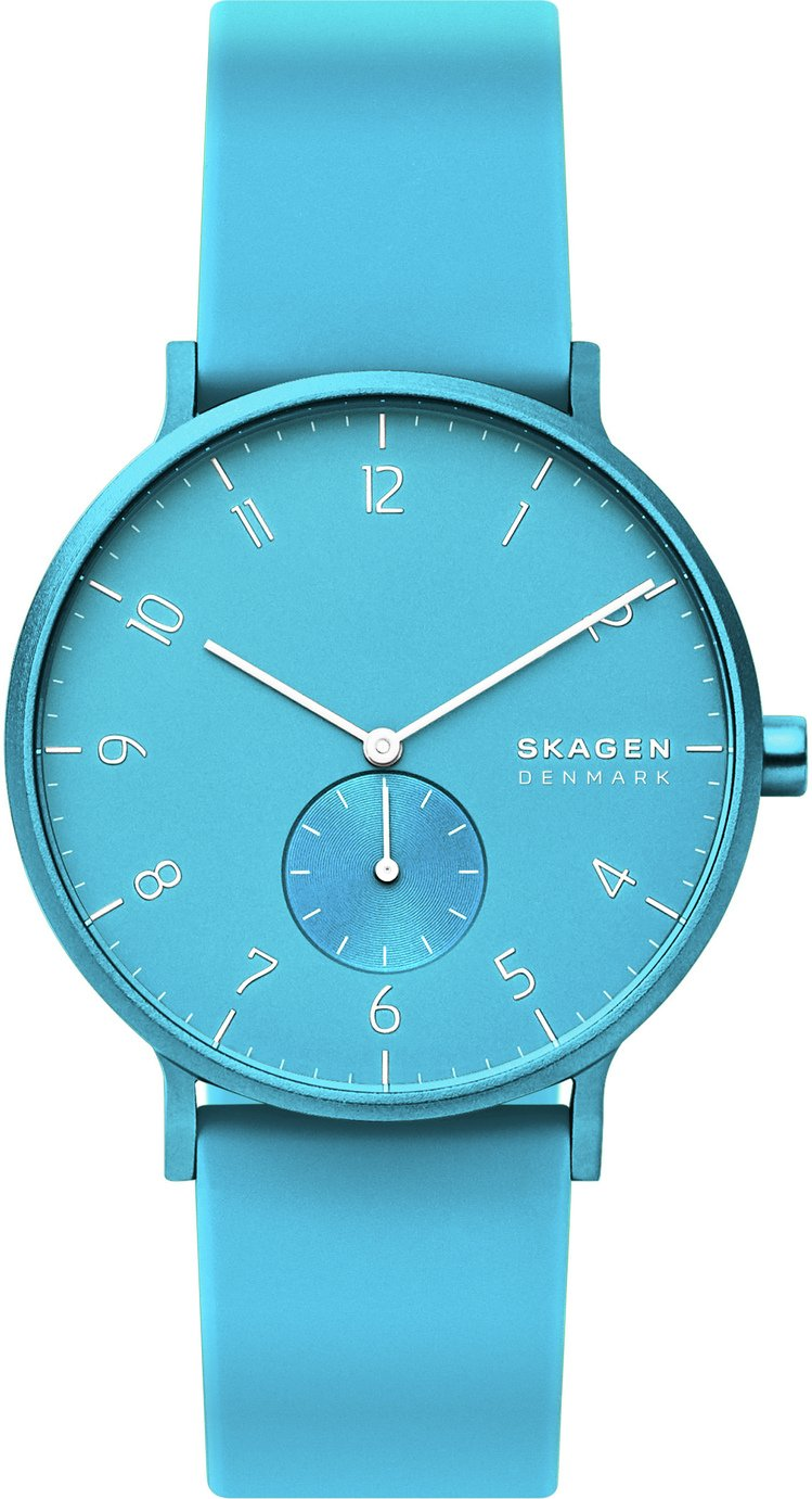Skagen Kulor Neon Blue Silicone Strap Watch