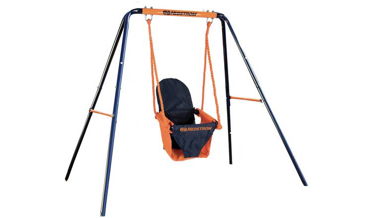 Hedstrom Folding Toddler Swing - Blue and Orange