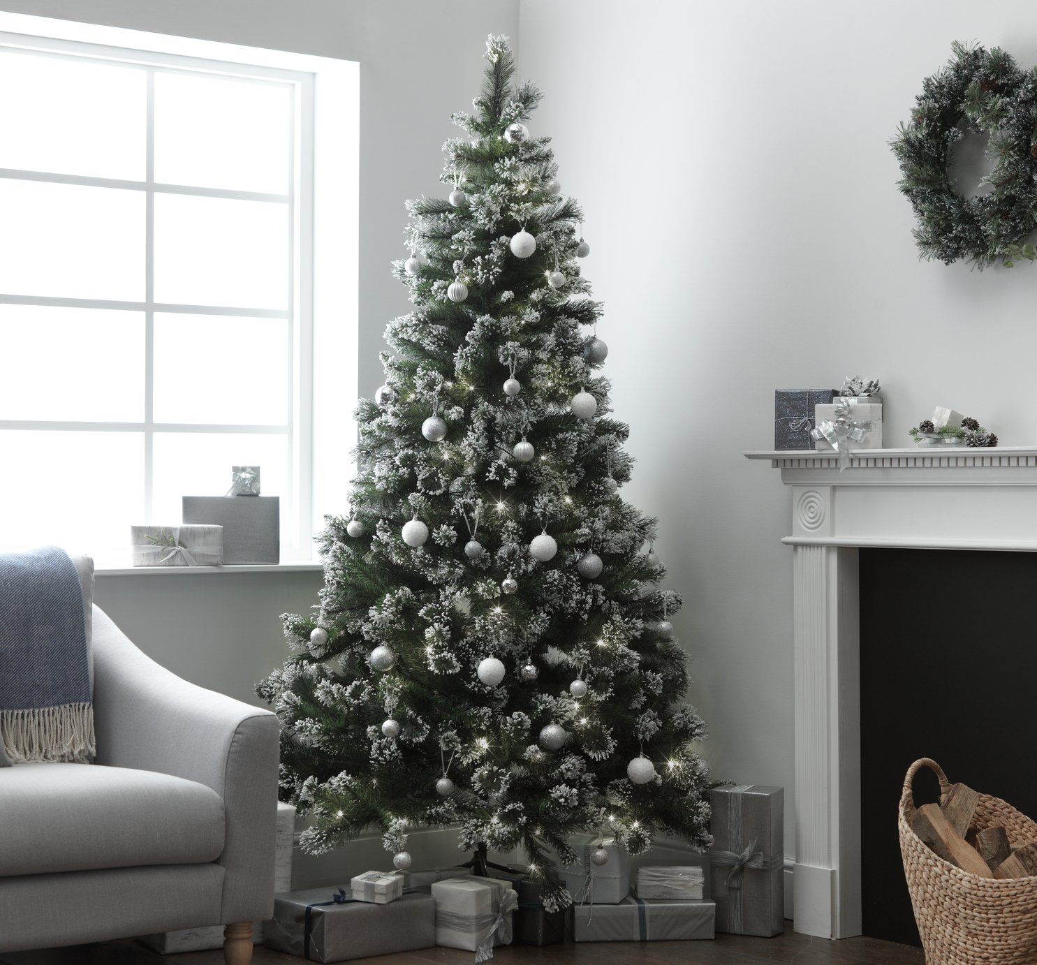 Heart of House - 7ft Pre-lit Snow Tipped Christmas Tree