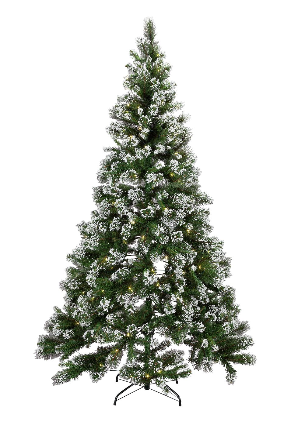 Pre-lit Snow Tipped Christmas Tree - 7ft