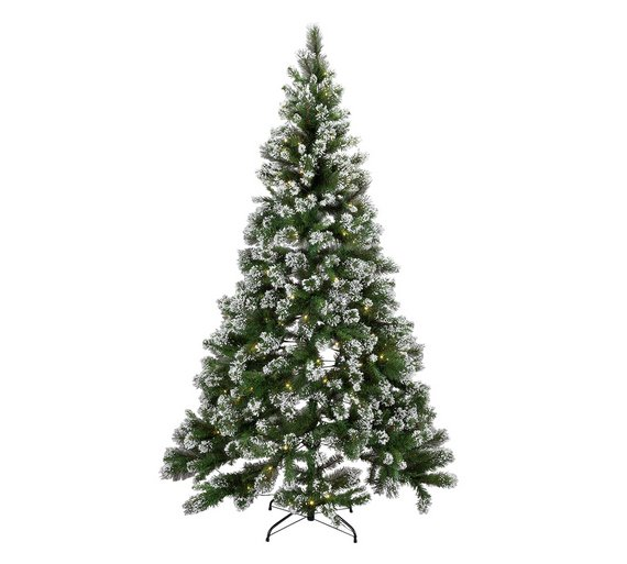 buy heart of house 7ft pre lit snow tipped christmas tree. Black Bedroom Furniture Sets. Home Design Ideas