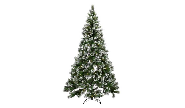 Buy Argos Home 7ft Pre-lit Snow Tipped Christmas Tree