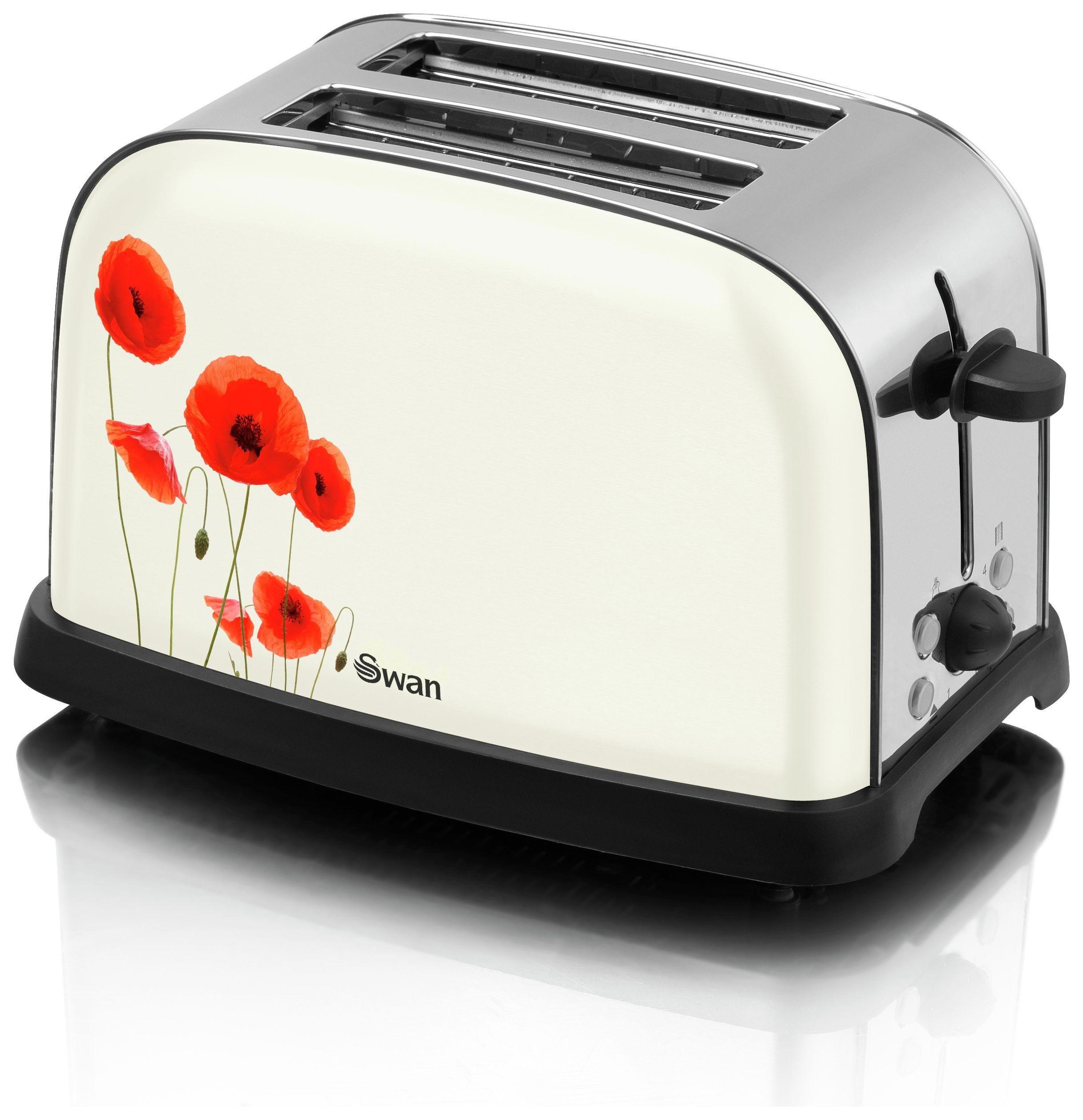 Swan - Toaster - Poppy - 2 Slice.
