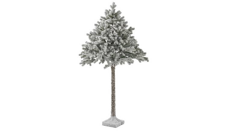Buy Argos Home 6ft Snowy Half Christmas Tree