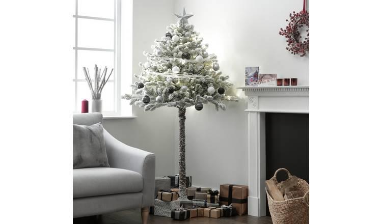 Half Christmas Tree.Buy Argos Home 6ft Snowy Half Christmas Tree Green Artificial Christmas Trees Argos