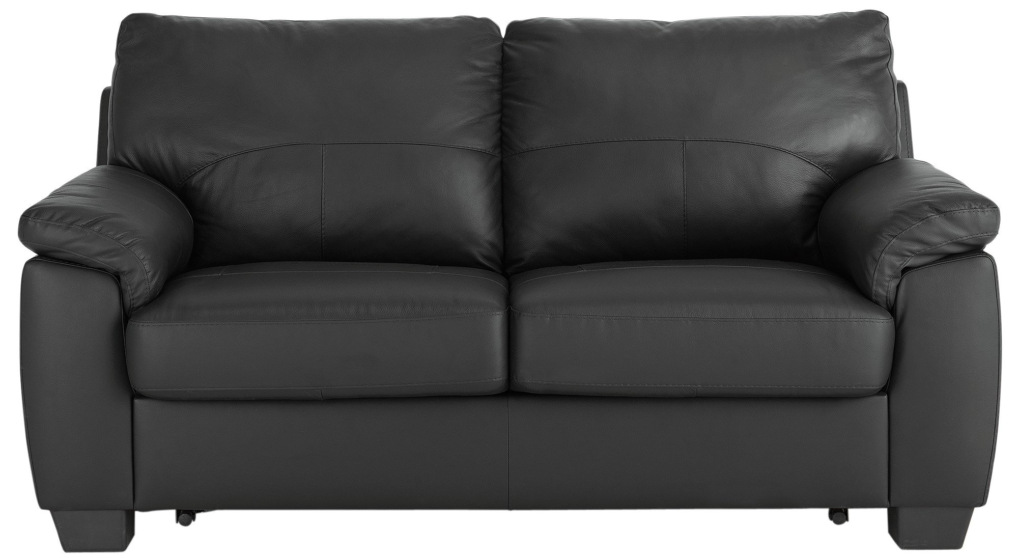 Argos Home Logan 2 Seater Faux Leather Sofa Bed - Black