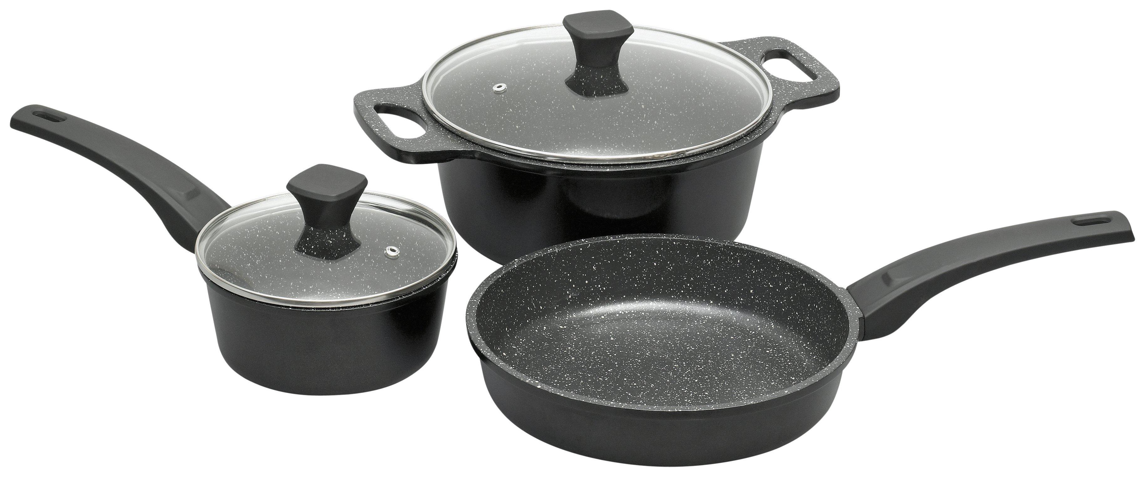 Prestige - Stone Quartz 3 Piece Pan Set