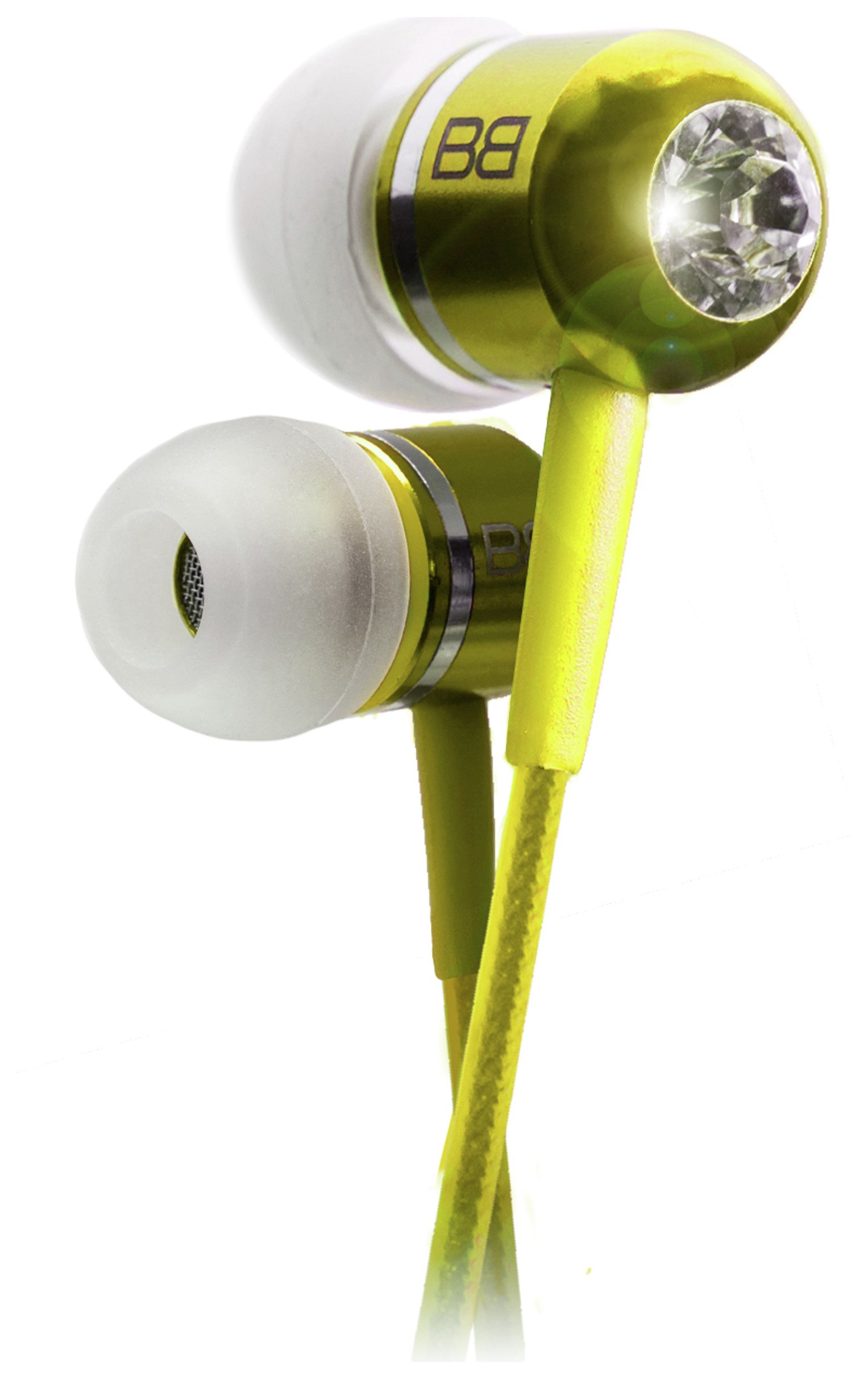 Image of BassBuds In Ear Headphones with MP3 Controller - Yellow