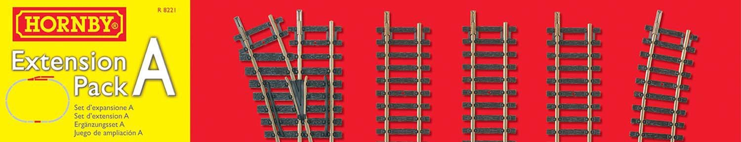 Image of Hornby - R8221 Extension Pack A 00 Gauge Track Accessory.