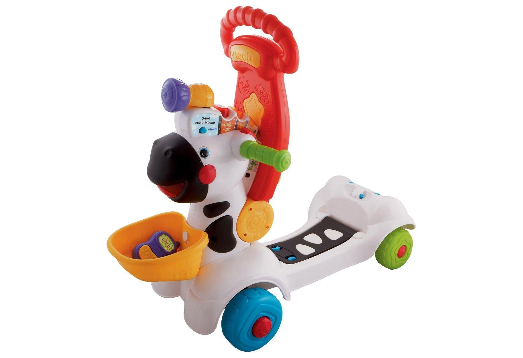 Image of VTech Baby 3-in-1 Zebra Scooter