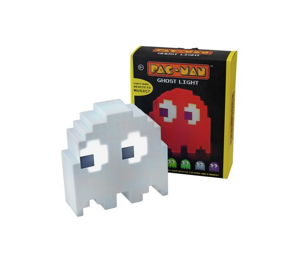 PAC-MAN Ghost Mood Room Night Light 16 Colour Change USB Port Lamp ...