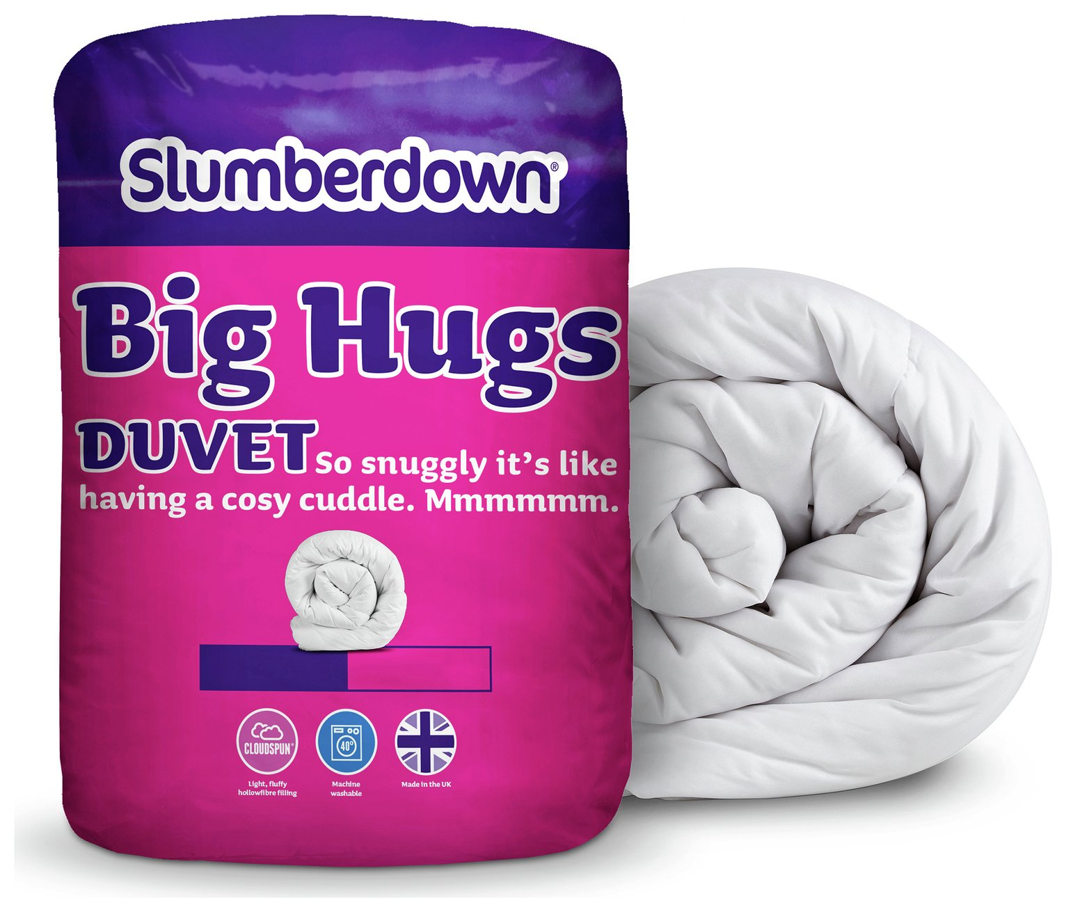 slumberdown  big hugs 105 tog  duvet  double