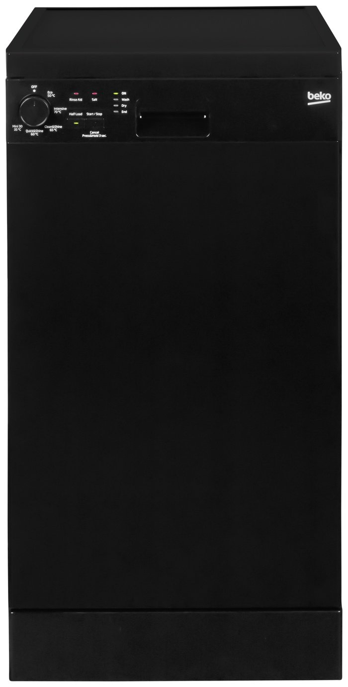 Beko - DFS05010B - Slimline Dishwasher - Black