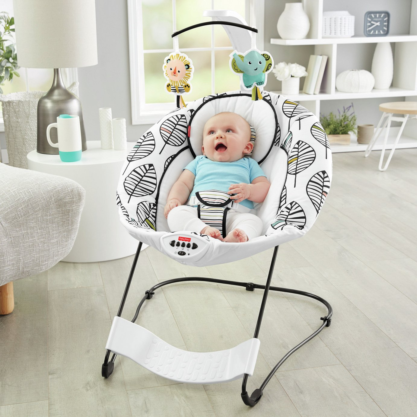 Fisher-Price See & Soothe Deluxe Baby Bouncer