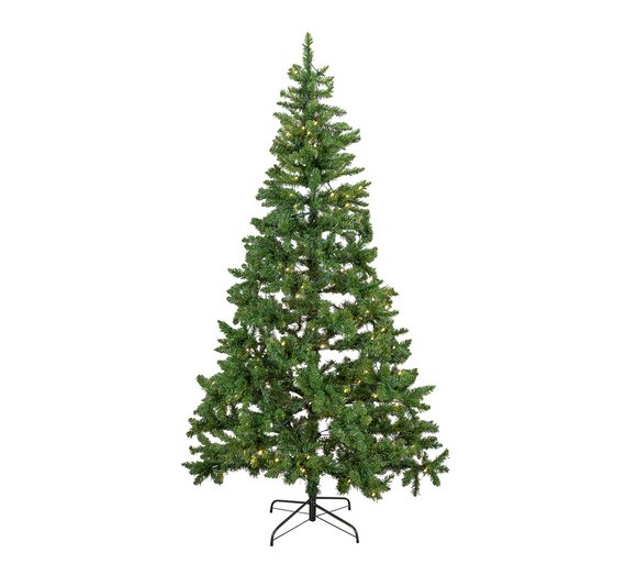 argos home 7ft pre lit christmas tree green