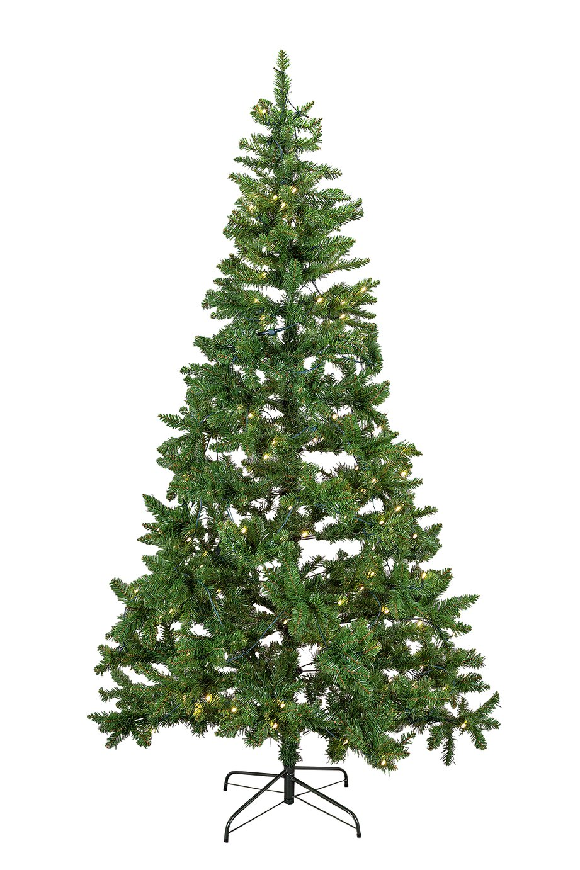 Pre-lit Green Christmas Tree - 7ft