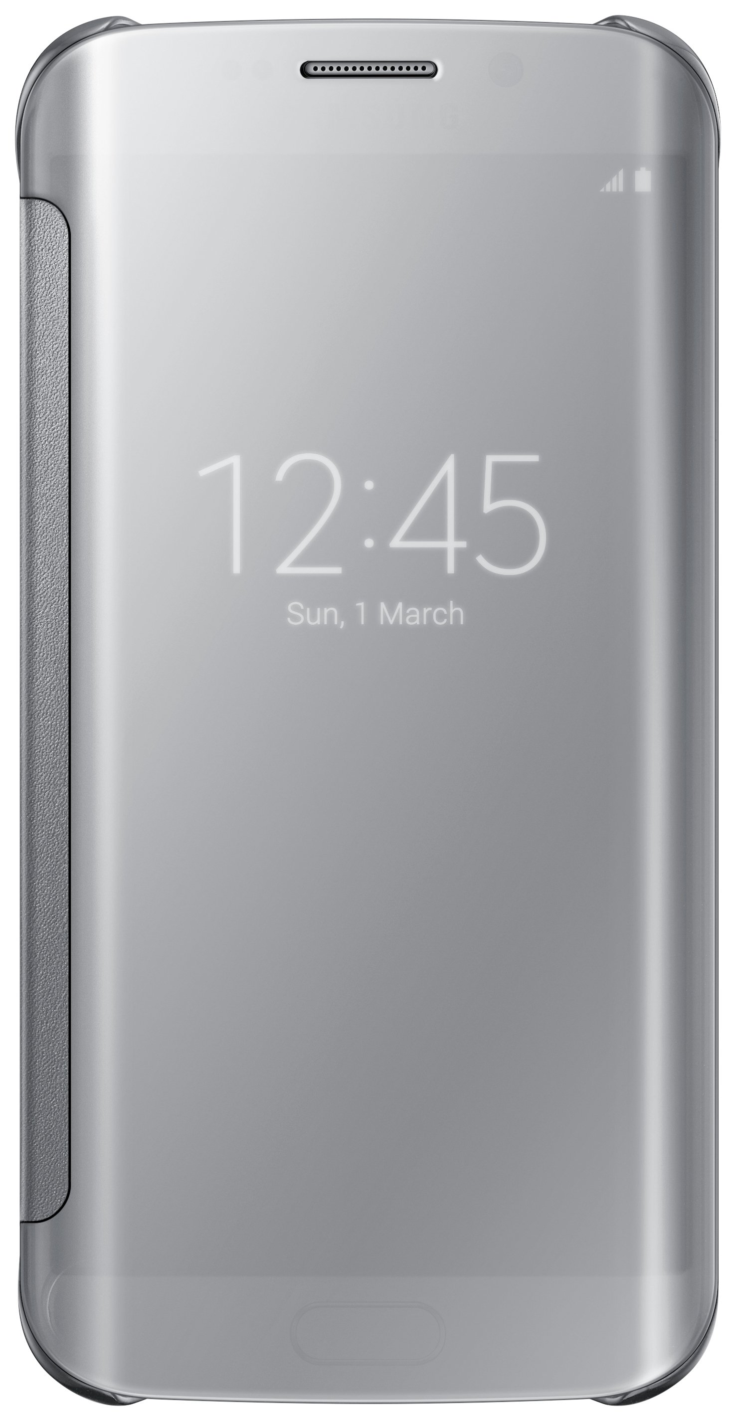 Samsung Samsung Galaxy S6 Edge Clear View Cover - Silver