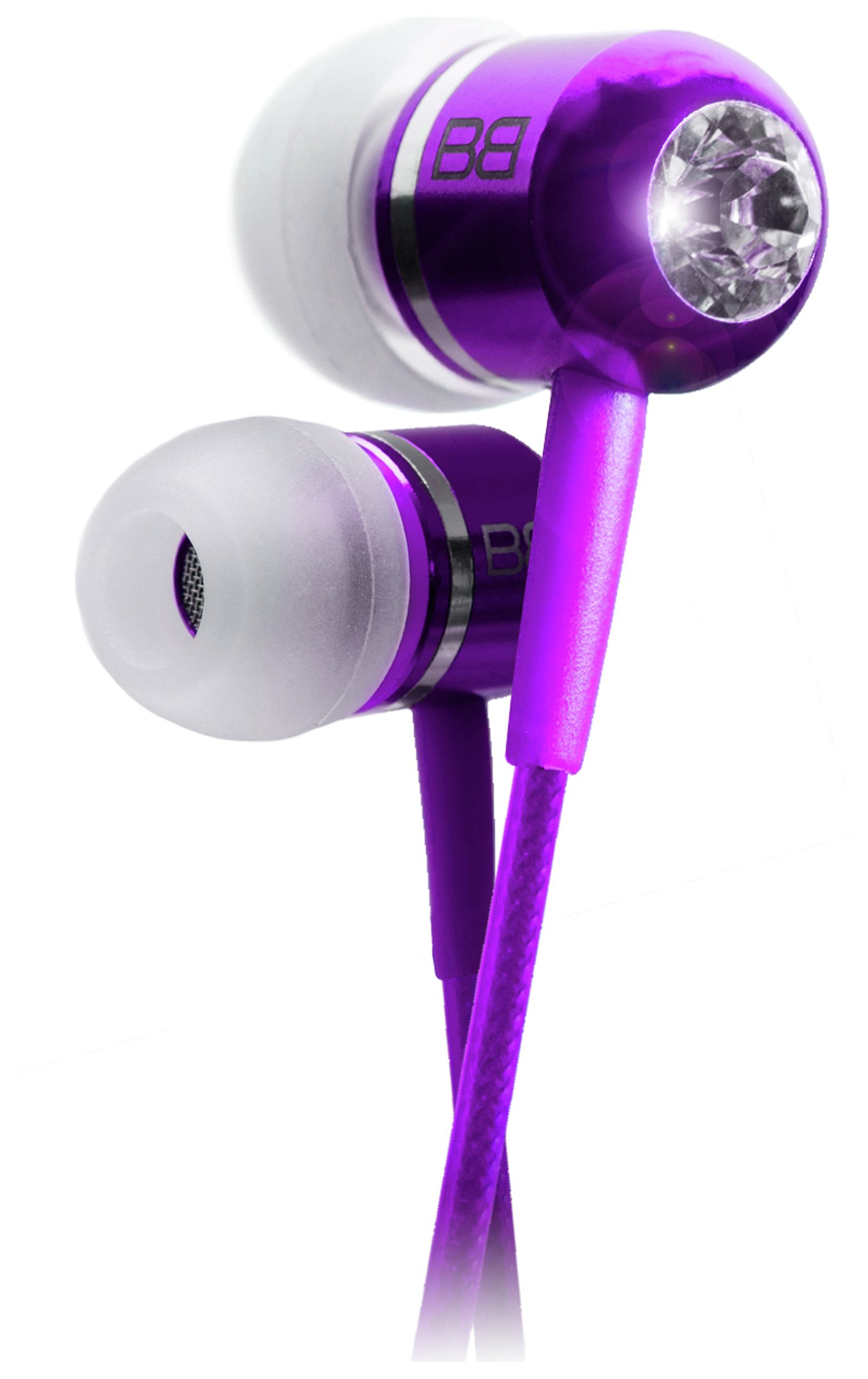 Image of BassBuds In Ear Headphones with MP3 Controller - Purple