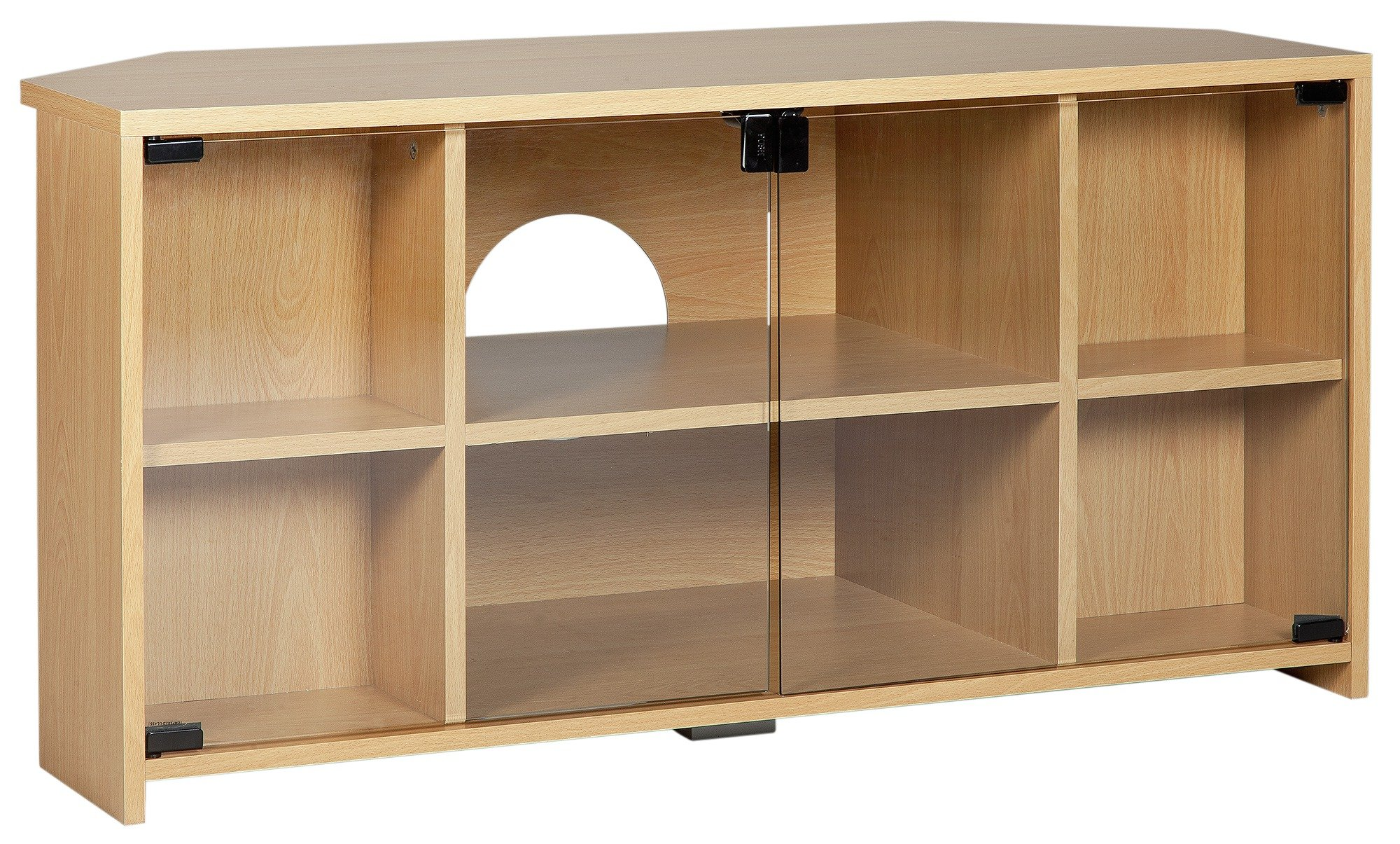 Sale On Argos Home Chequer Corner Tv Unit Beech Effect