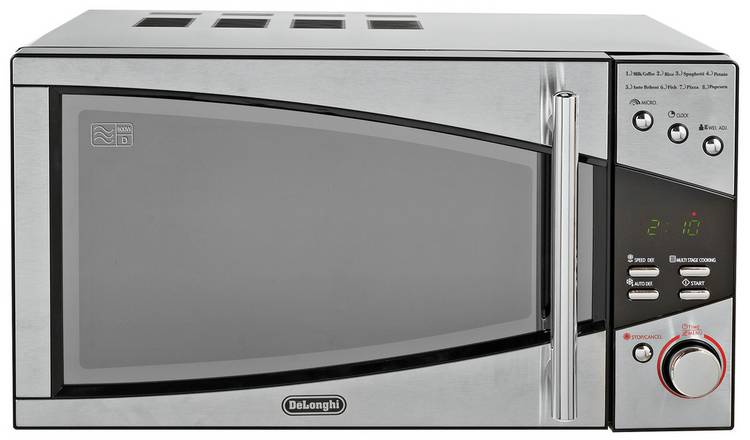De'Longhi 800W Standard Microwave P80T5A - Black and Silver