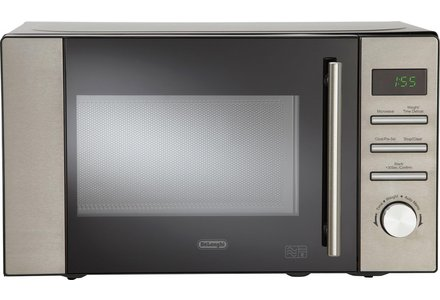 De'Longhi 800W Standard Microwave AM82 - Stainless Steel