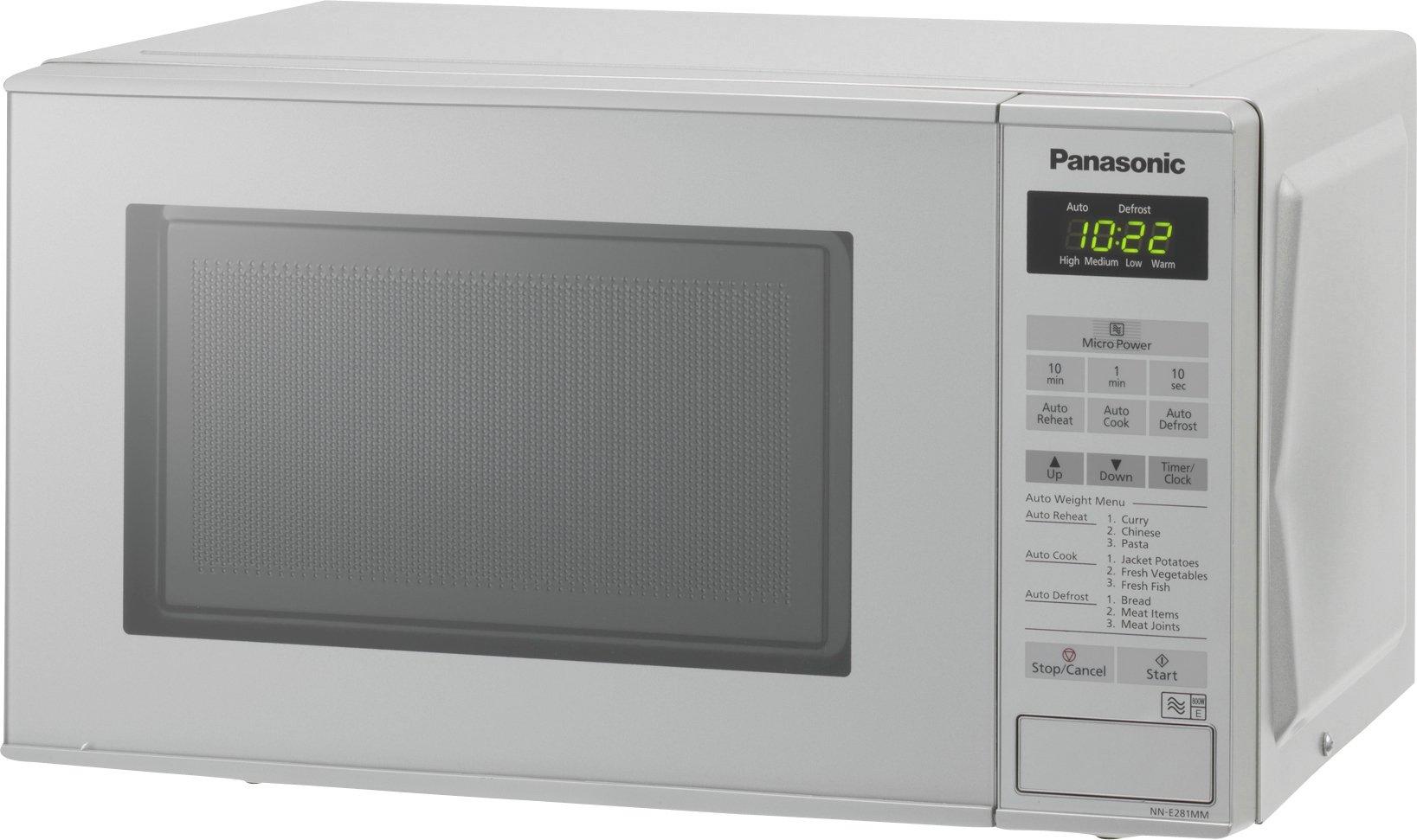 'Panasonic - Nn-e281mm 800w Standard Touch Microwave - Silver