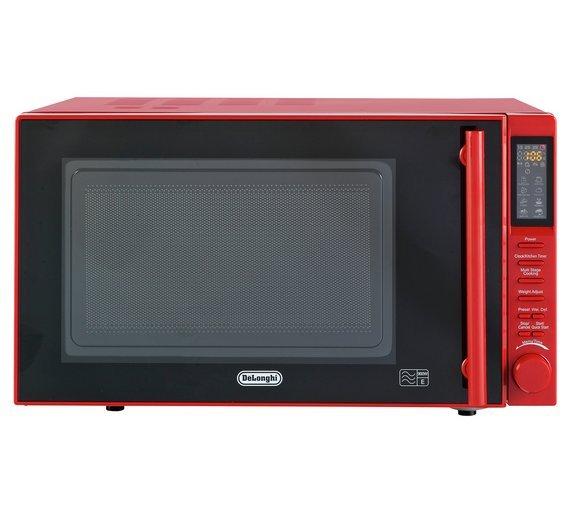 De'Longhi 900W Standard Microwave P90D Easi-Tronic - Red