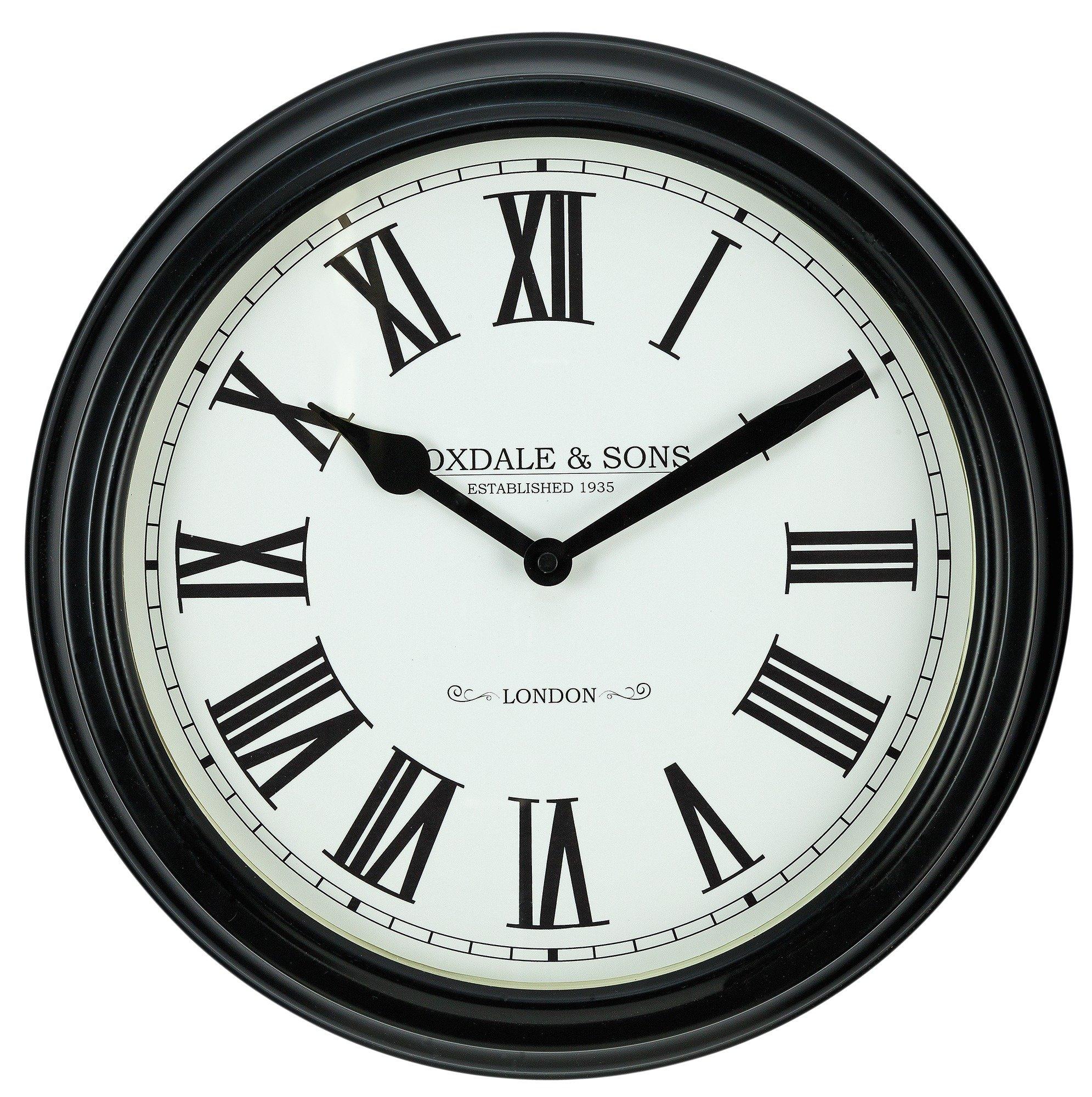 Black Kitchen Clock Argos: Heart Of House Foxdale Classic Black Wall Clock