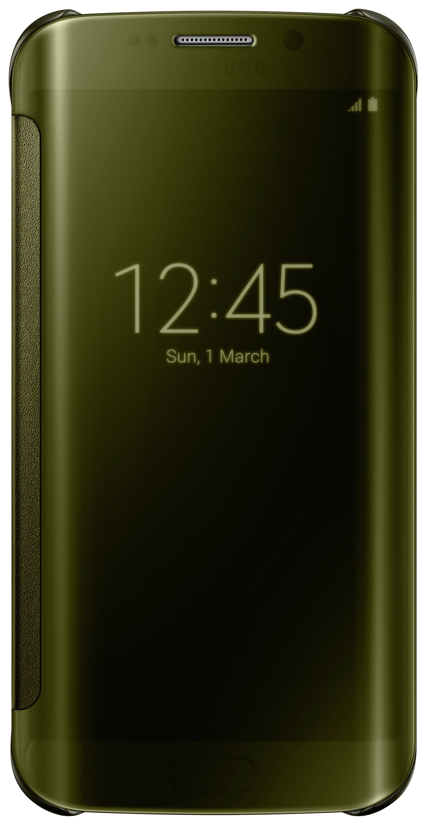 Samsung Samsung Galaxy S6 Edge Clear View Cover - Gold