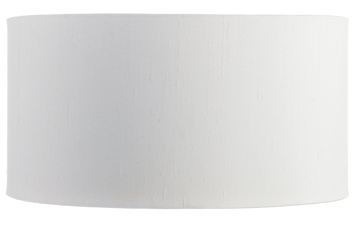 Habitat Drum Silk Shade - White